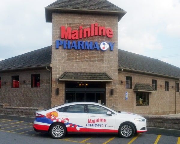 Mainline Pharmacy Car Wrap