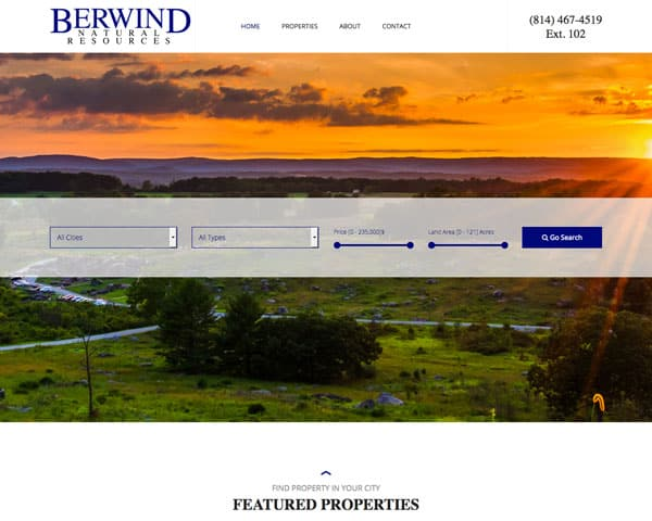 Berwind Natural Resources Website