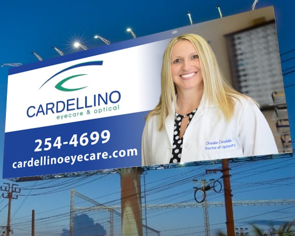 Cardellino Eyecare & Optical – Billboard