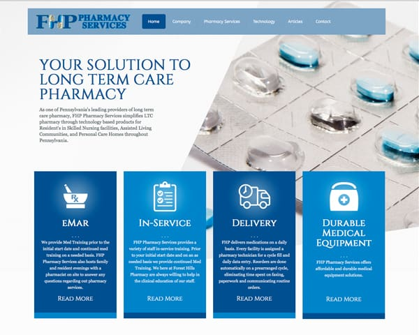 Forest Hills Pharmacy website homepage