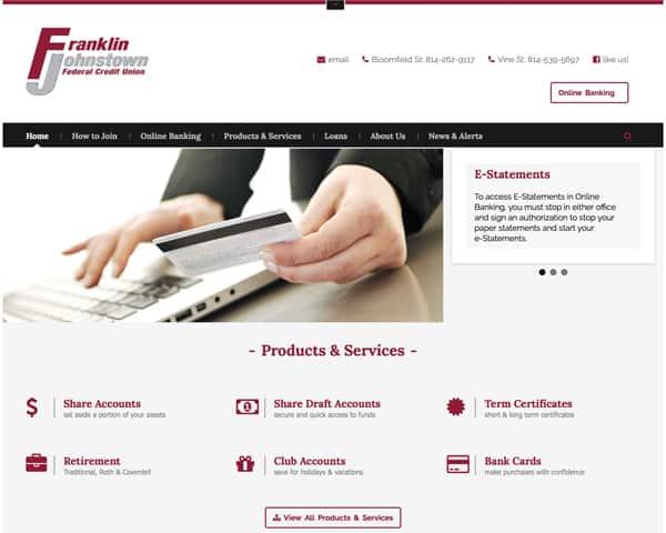 Franklin Johnstown Federal Credit Union Website