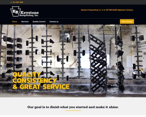 Keystone Rustproofing website homepage