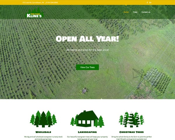 Kline's Tree Farm Websites
