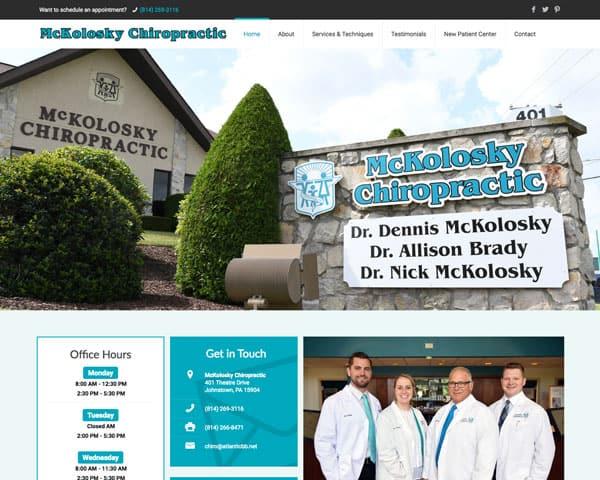 Screenshot of McKolosky Chiropractic website