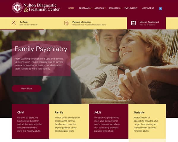Nulton Diagnostic and Treatment Center Website
