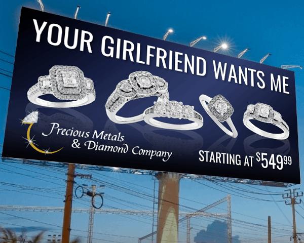 Precious Metals & Diamond Company Billboard
