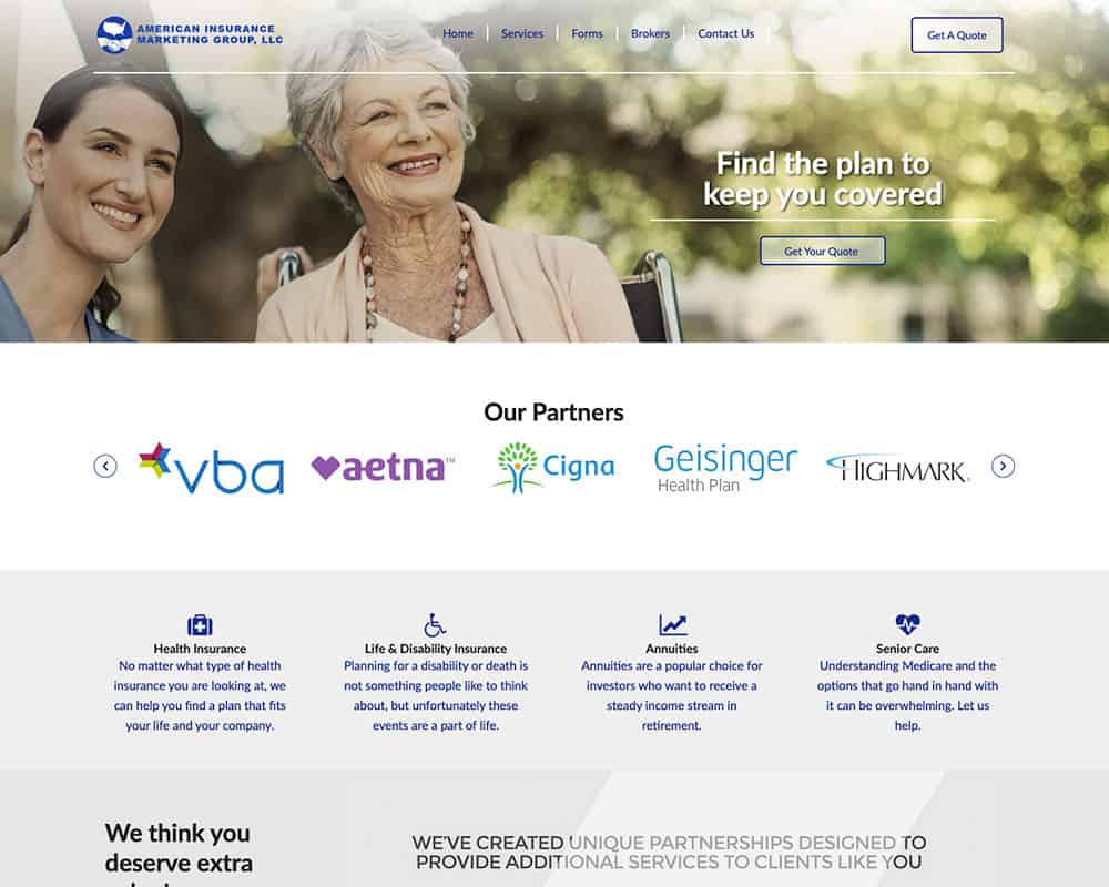 American Insurance Marketing website