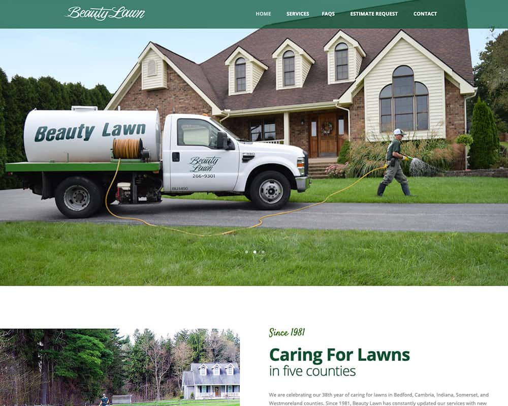 Beauty Lawn Website