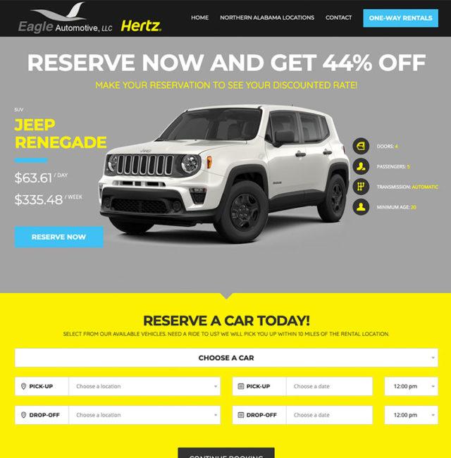 Eagle Automotive Hertz Rental Website