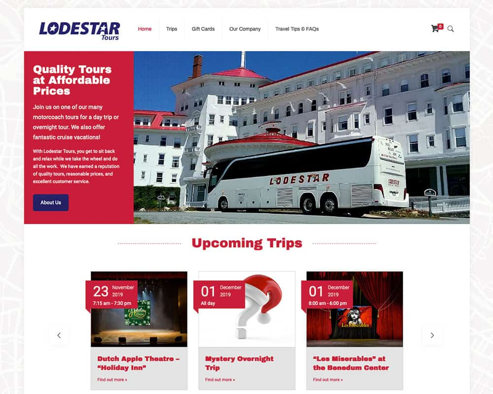 Lodestar Tours Website